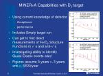miner n a capabilities with d 2 target