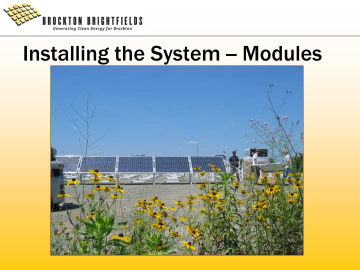 Installing the System -- Modules