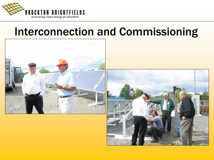 Interconnection and Commissioning