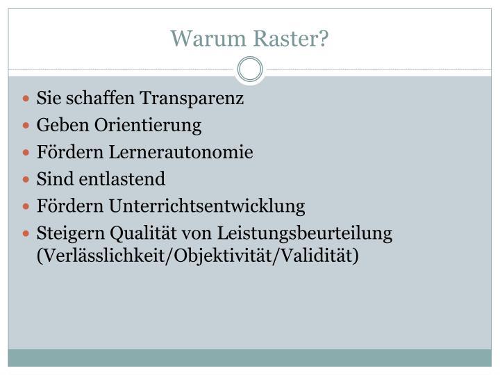 Warum Raster?