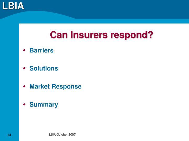 Can Insurers respond?