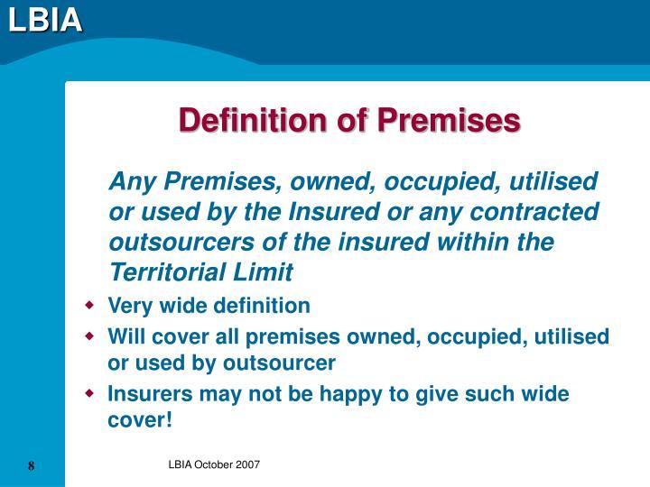 Definition of Premises
