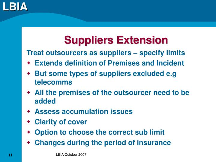 Suppliers Extension