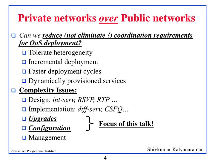 Private networks