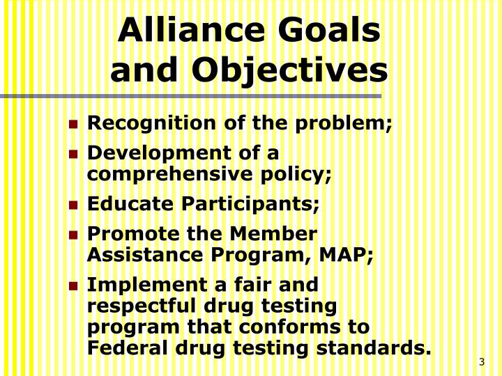 Alliance goals and objectives
