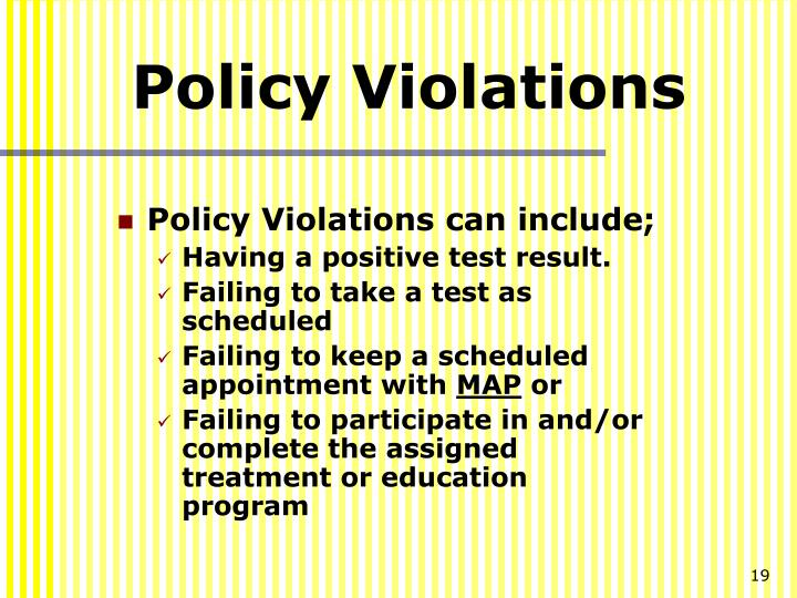 Policy Violations