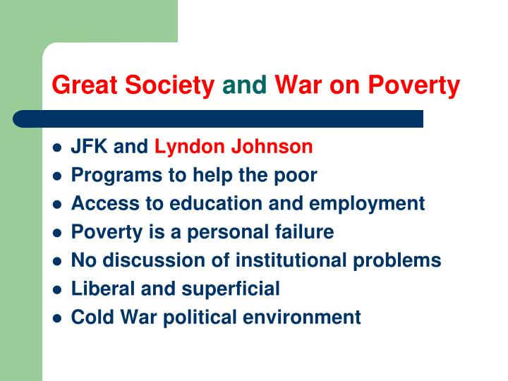 Great society and war on poverty