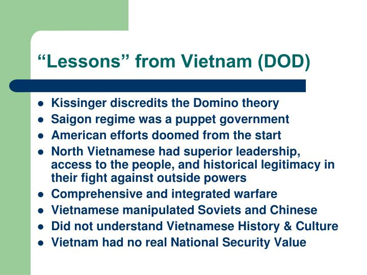 """""""Lessons"""" from Vietnam (DOD)"""