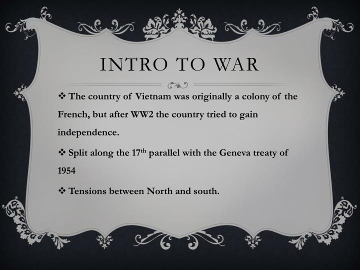 Intro to war