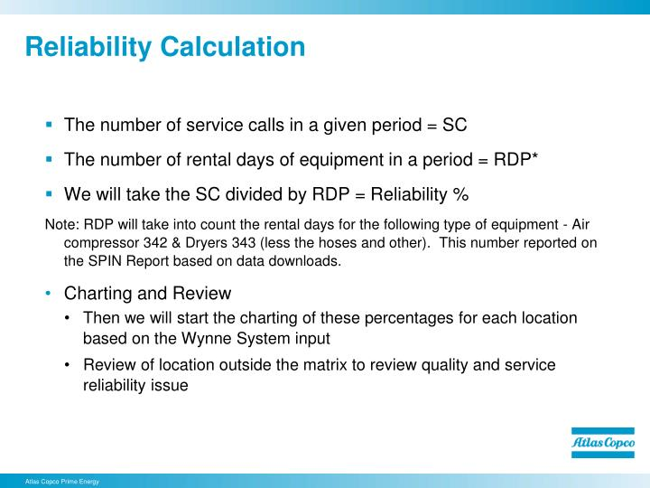 Reliability Calculation