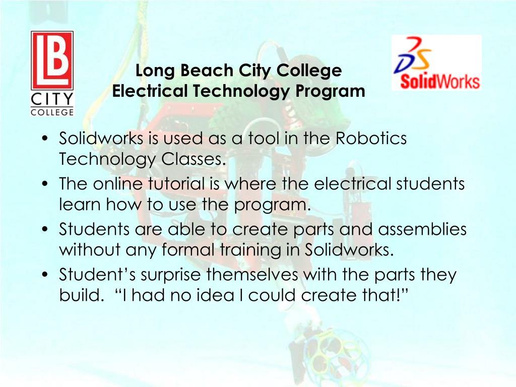 Ppt Long Beach City College Electrical Technology Program