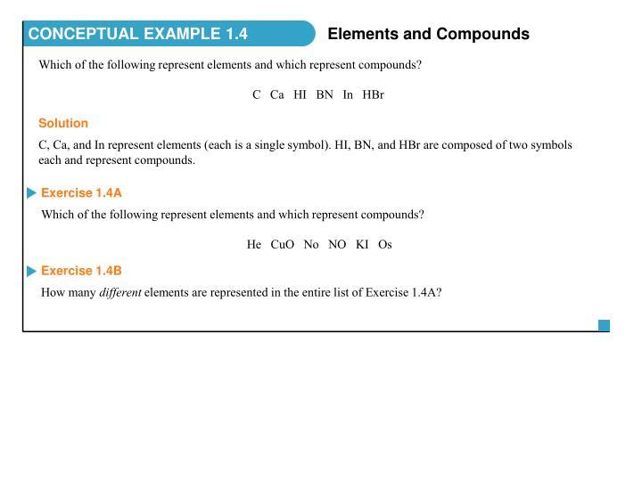 CONCEPTUAL EXAMPLE 1.4