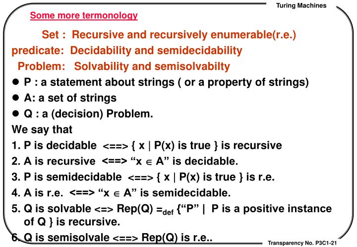 Some more termonology