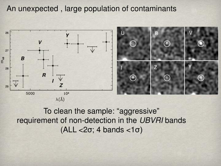 An unexpected , large population of contaminants