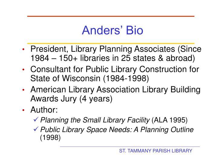 Anders' Bio