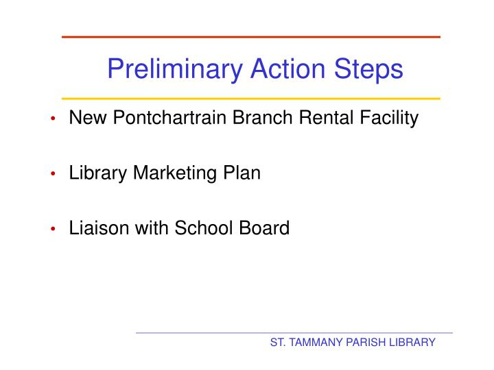 Preliminary Action Steps