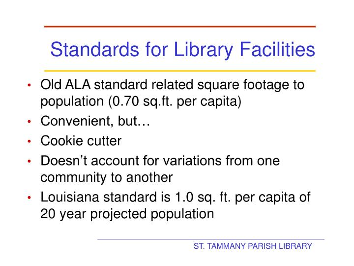 Standards for Library Facilities