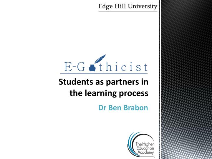 students as partners in the learning process n.