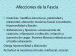 afecciones de la fascia