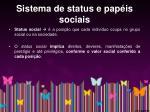 sistema de status e pap is sociais