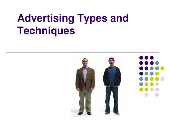 advertising types and techniques n.