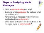 steps to analyzing media messages1
