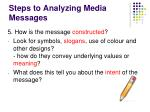 steps to analyzing media messages4