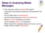 steps to analyzing media messages6