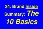 24 brand inside summary the 10 basics