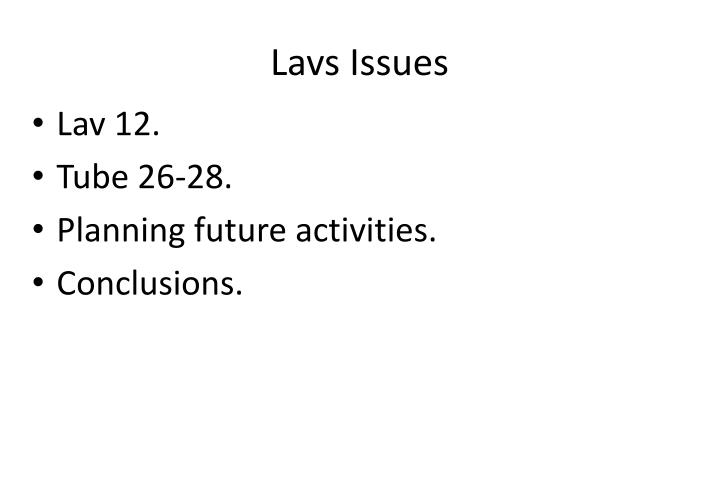 lavs issues n.
