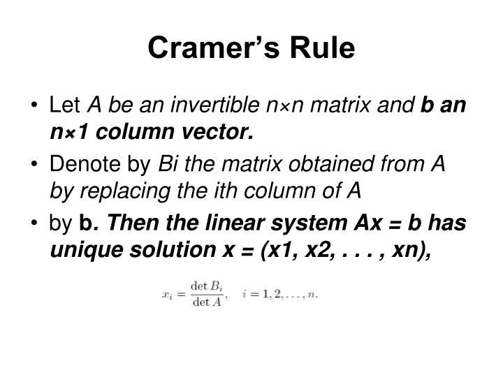 Cramer's Rule