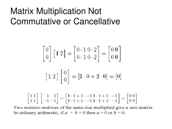 Matrix Multiplication Not