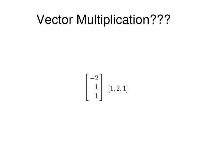 Vector Multiplication???