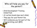 who will help you pay for the permit