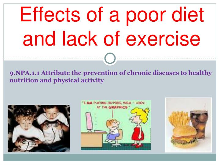 effects of poor diet and obesity Learn about fast food effects on your different body systems obesity can also lead to and maintain a healthy diet to minimize bone loss effects on society.