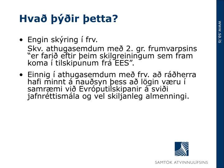 Hvað þýðir þetta?