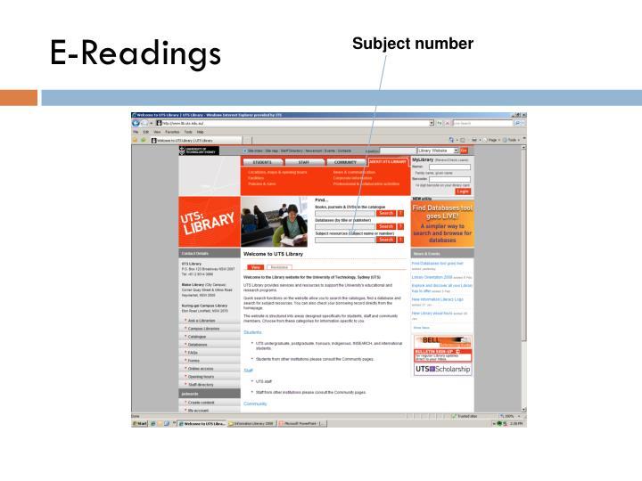 E-Readings