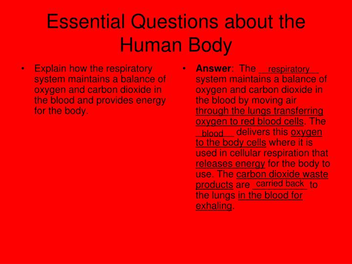 Essential Questions about the Human Body