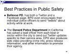 best practices in public safety
