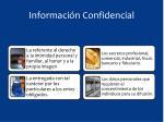 informaci n confidencial