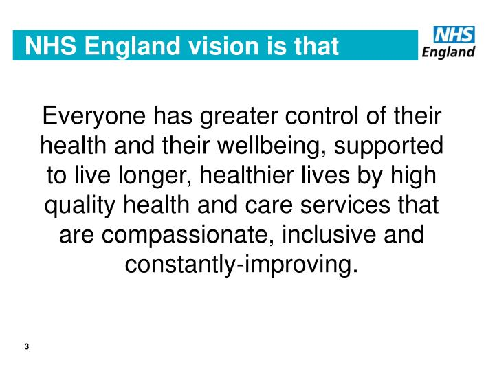 Nhs england vision is that