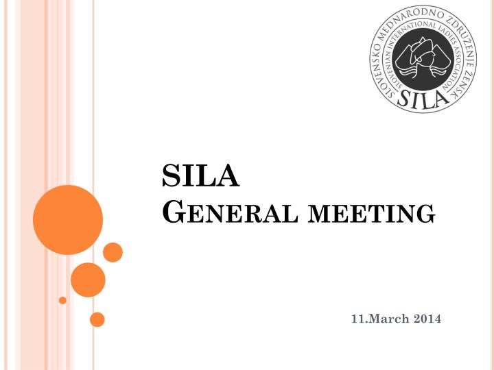 sila general meeting n.