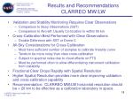 results and recommendations clarreo mw lw