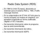 radio data system rds