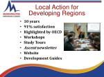local action for developing regions