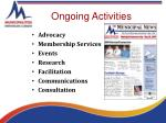 ongoing activities