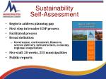 sustainability self assessment