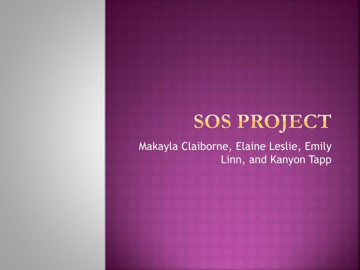 sos project n.