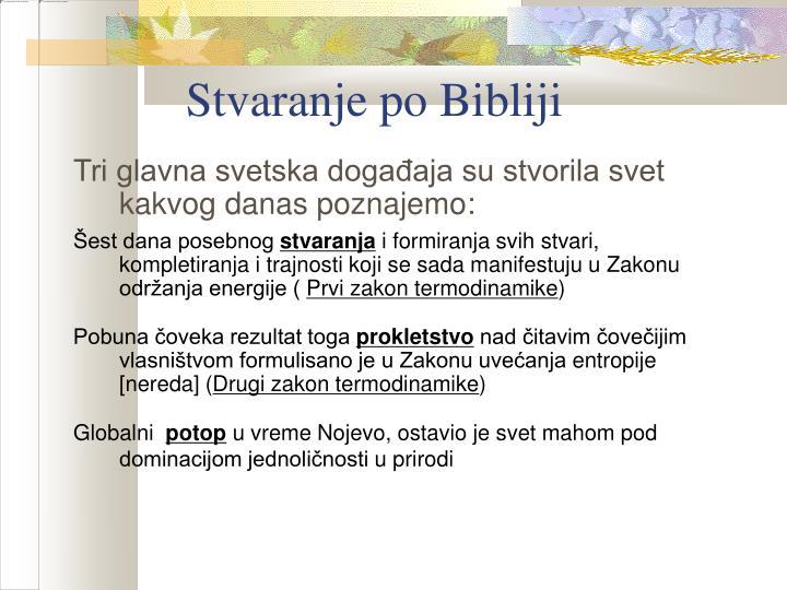 Stvaranje po Bibliji