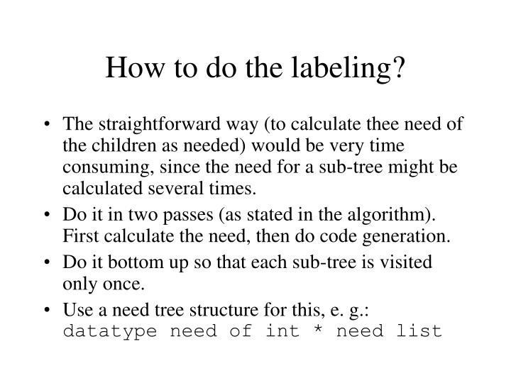 How to do the labeling?